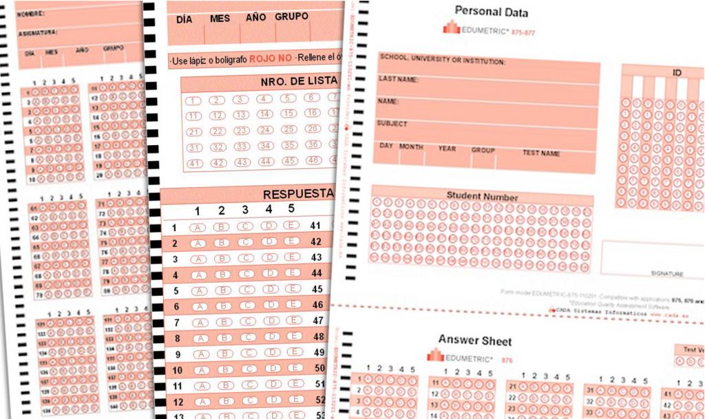 Corrección automática de exámenes tipo test